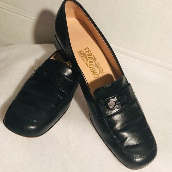Salvatore Ferragamo Shoes Boutique Women Black Flats Poshmark